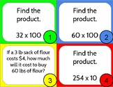 Multi Digit Whole Number and Decimal Operation Task Cards