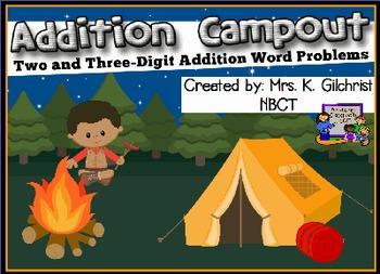 Multi - Digit Addition Word Problems Promethean ActivInspire Flipchart Lesson