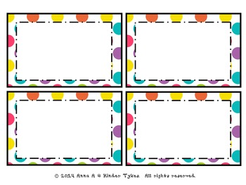 Multi Dot Labels by Kinder Tykes