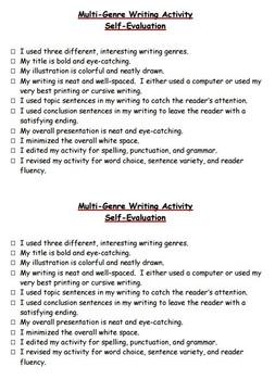 Multi-Genre Writing Activity