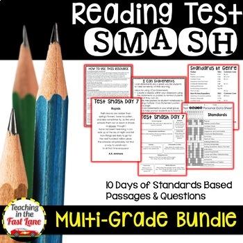 Multi-Grade Reading Test Smash Bundle