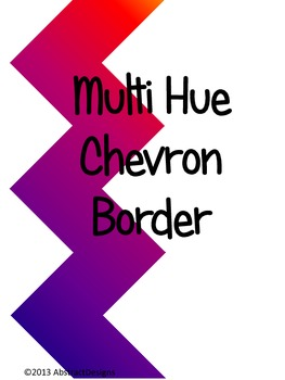 Multi-Hue Chevron Border