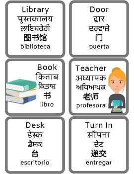 Multi-Language Classroom Object Labels
