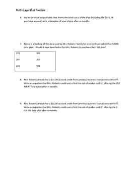 Multi-Layer Word Problem: iPad Data Plans