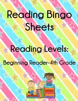 Multi Level Bingo Reading Motivation