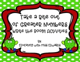 Take a Bite Out of Greater Numbers Write the Room Activities