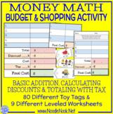 Multi-Level Money Math Center for LIFE Skills- Basic Addition and Percentages