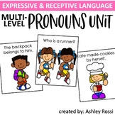 Pronouns Speech Therapy: Multi-Level Unit