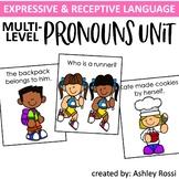 Pronouns Speech Therapy: Multi-Level Unit