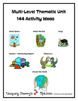 Multi-Level Thematic Unit Activity Cards