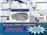 Multi-Leveled: ERNEST HEMINGWAY Constructed Response Practice & Word Work RI 8.1