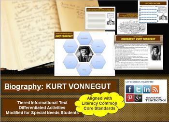 Multi-Leveled: KURT VONNEGUT Constructed Response Practice & Word Work RI 8.1
