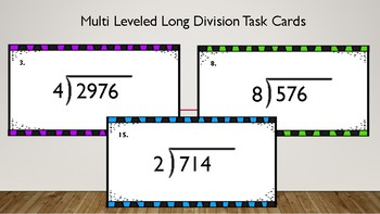 Multi Leveled Long Division Task Cards