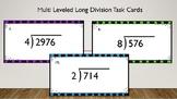 Multi Leveled Long Division Task Cards