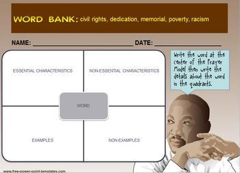 Multi-Leveled: MLK Constructed Response Practice & Word Work RI 6.1