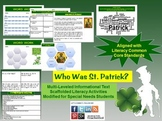 Multi-Leveled: ST. PATRICK Constructed Response Practice & Word Work RI 6.1