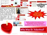 Multi-Leveled: ST. VALENTINE Constructed Response Practice & Word Work RI 8.1