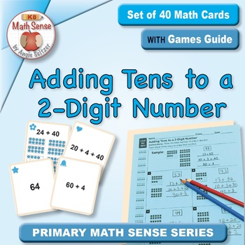 Adding Tens to a 2-Digit Number: 40 Math Matching Game Cards 1B33
