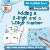 Adding a 2-Digit and a 1-Digit Number: 40 Math Matching Ga