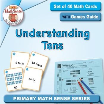 Understanding Tens: Math Matching Game Cards 1B