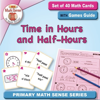 Multi-Match Game Cards 1M: Time in Hours and Half-Hours