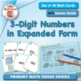 3-Digit Numbers in Expanded Form: 40 Math Matching Game Cards 2B