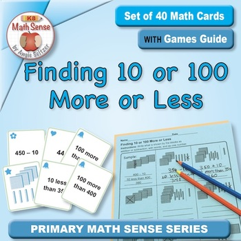 Multi-Match Game Cards 2B: Finding 10 or 100 More or Less
