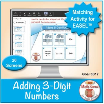 Multi-Match Game Cards 3B: Adding 3-Digit Numbers