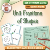 Unit Fractions of Shapes: 40 Math Matching Game Cards 3G