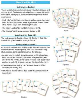 Multi-Match Game Cards 4B: Multiplying and Dividing by 10
