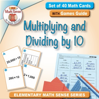 FREE Multiplying and Dividing by 10: Math Matching Game Cards 4B