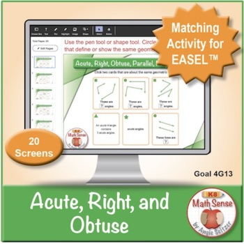 Multi-Match Game Cards 4G: Acute, Right, and Obtuse