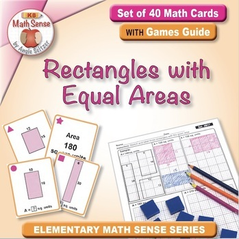 Multi-Match Game Cards 4M: Rectangles with Equal Areas
