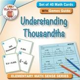 Understanding Thousandths: 40 Math Matching Game Cards 5B