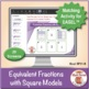 Equivalent Fractions with Square Models: 40 Math Matching Game Cards 5F11