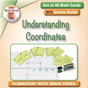 Understanding Coordinates: 40 Math Matching Game Cards 5G