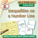 Inequalities on a Number Line: 40 Math Matching Game Cards 6E