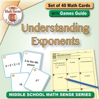 Multi-Match Game Cards 6E: Understanding Exponents