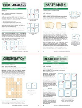 Understanding Exponents: 40 Math Matching Game Cards 6E11