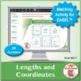 Lengths and Coordinates: 40 Math Matching Game Cards 6G