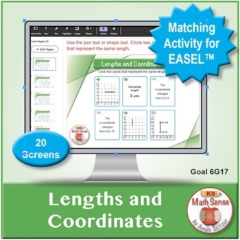 Lengths and Coordinates: 40 Math Matching Game Cards 6G17