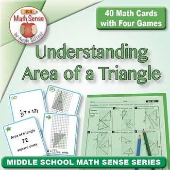 FREE Understanding Area of a Triangle: 40 Math Matching Game Cards 6G11