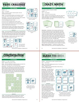Understanding Surface Area: 40 Math Matching Game Cards 6G19