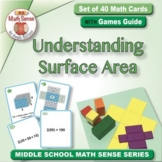 Understanding Surface Area: 40 Math Cards with Games Guide 6G19