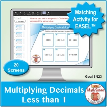 Multi-Match Game Cards 6N: Multiplying Decimals Less than 1