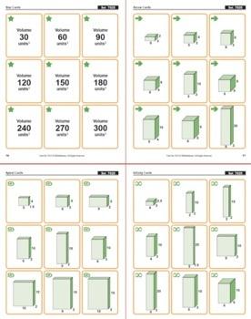 Volume of Rectangular Prisms: Math Matching Game Cards 7G