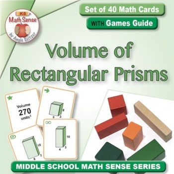 Volume of Rectangular Prisms: 40 Math Matching Game Cards 7G25