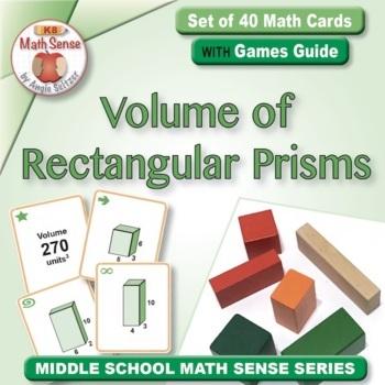Multi-Match Game Cards 7G: Volume of Rectangular Prisms