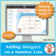 Adding Integers on a Number Line: 40 Math Matching Game Cards 7N11