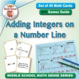 Adding Integers on a Number Line: 40 Math Matching Game Ca